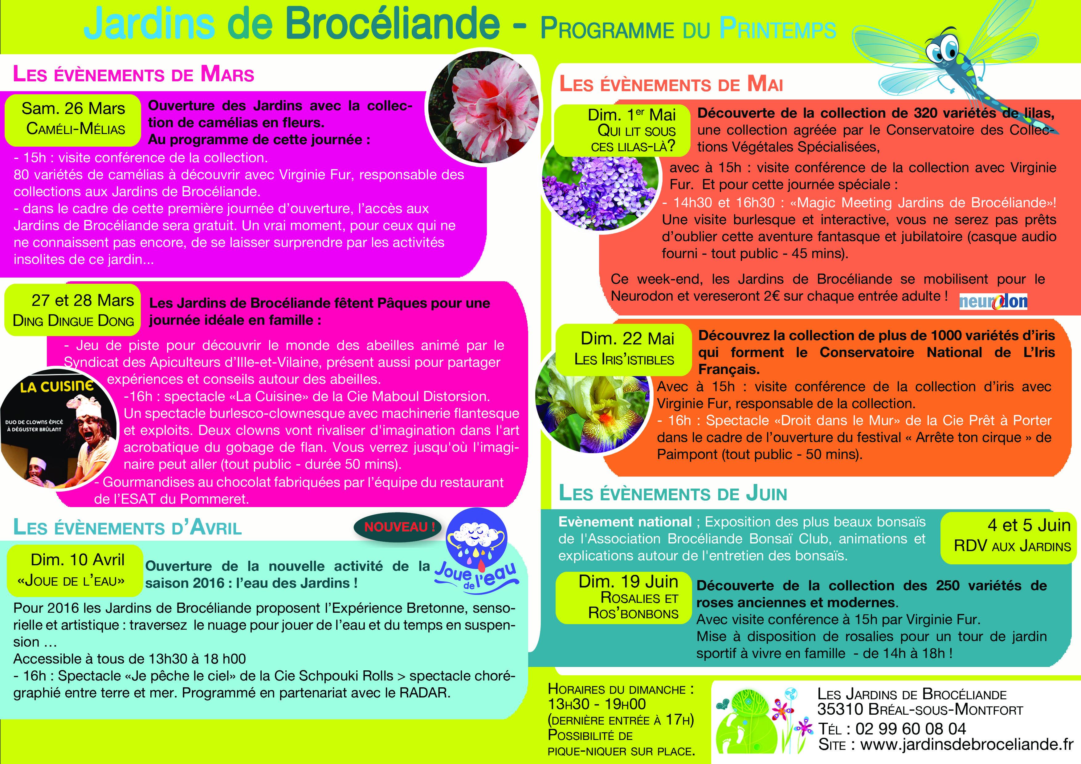 Ouverture des Jardins de Brocéliande Association Les Mordus de
